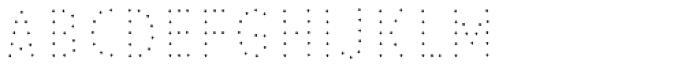 Pesto Fresco Small Dots Font UPPERCASE