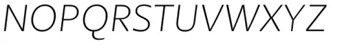 Petala Pro Thin Italic Font UPPERCASE
