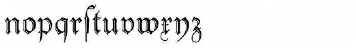 Peter Schlemihl Font LOWERCASE