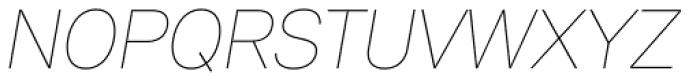 Peter Thin Italic Font UPPERCASE