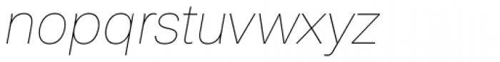 Peter Thin Italic Font LOWERCASE