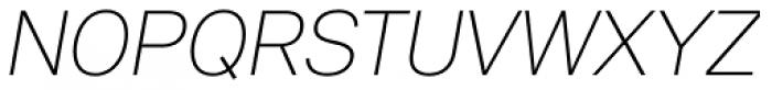 Peter Ultralight Italic Font UPPERCASE