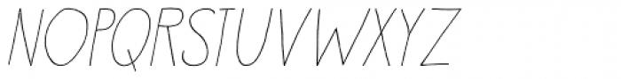 Petit Oiseau Italic Font UPPERCASE