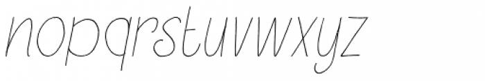Petit Oiseau Italic Font LOWERCASE