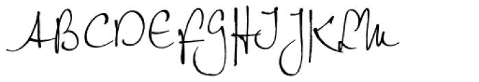 Petras Script EF Font UPPERCASE