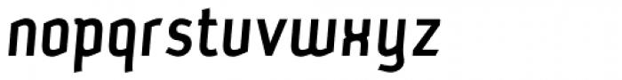 Petrol Medium Italic Font LOWERCASE