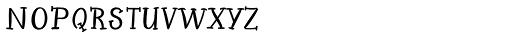 Petunia Serif Font UPPERCASE