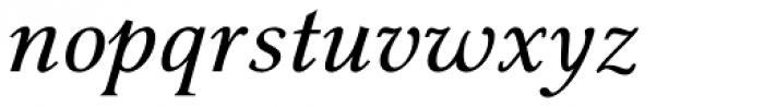 Pevensey 2 DemiBold Italic Font LOWERCASE