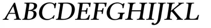 Pevensey 2 DemiBold Oblique Font UPPERCASE