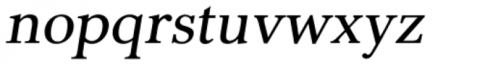 Pevensey 2 DemiBold Oblique Font LOWERCASE