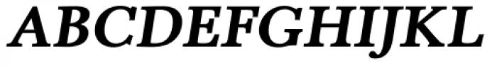 Pevensey 5 Heavy Oblique Font UPPERCASE