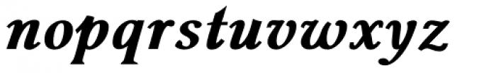 Pevensey 6 ExtraHeavy Italic Font LOWERCASE
