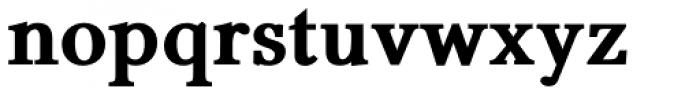 Pevensey 6 ExtraHeavy Font LOWERCASE