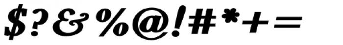 Pevensey 7 Black Italic Font OTHER CHARS