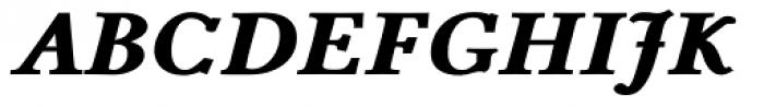 Pevensey 7 Black Italic Font UPPERCASE