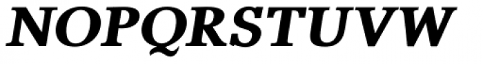 Pevensey 7 Black Oblique Font UPPERCASE