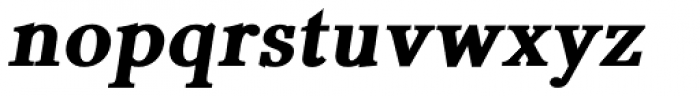 Pevensey 7 Black Oblique Font LOWERCASE