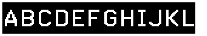 Pexico Inverse Font UPPERCASE
