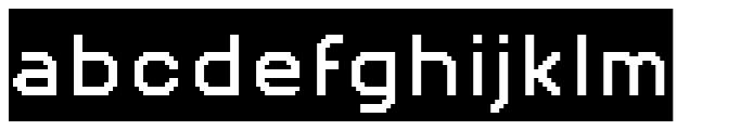 Pexico Inverse Font LOWERCASE