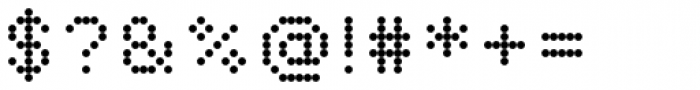 Pexico Micro Dots Font OTHER CHARS