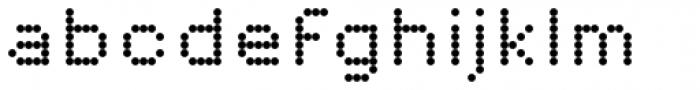 Pexico Micro Dots Font LOWERCASE
