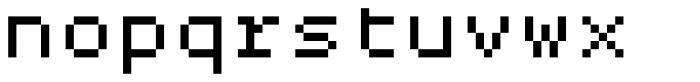 Pexico Micro Mono Font LOWERCASE
