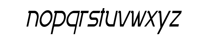 Persia Thin Italic Font LOWERCASE