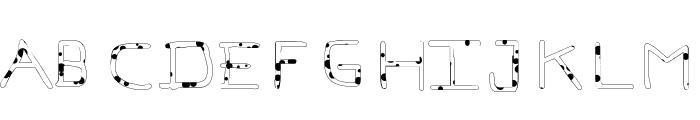 Pf_veryverybadfont7-Liquid Font UPPERCASE