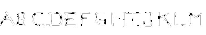 Pf_veryverybadfont7-Liquid Font LOWERCASE