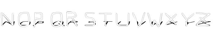 Pf_veryverybadfont7 Shadow Font UPPERCASE