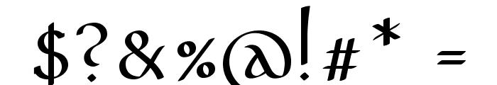 PfefferMediaeval Font OTHER CHARS