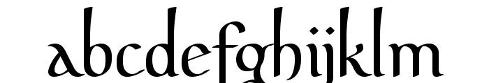 PfefferMediaeval Font LOWERCASE