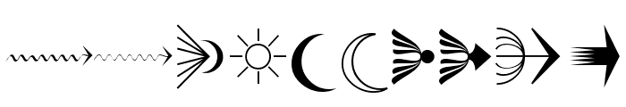 PfeileOne Regular Font OTHER CHARS