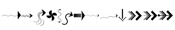 PfeileOne Regular Font UPPERCASE