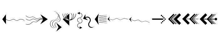 PfeileOne Regular Font LOWERCASE