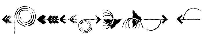 PfeileTwo Regular Font OTHER CHARS