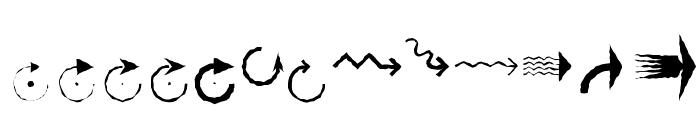 PfeileTwo Regular Font UPPERCASE