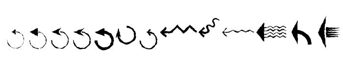 PfeileTwo Regular Font LOWERCASE