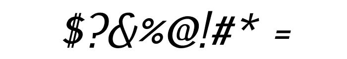Pfennig Italic Font OTHER CHARS