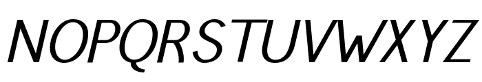 Pfennig Italic Font UPPERCASE