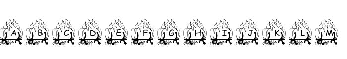 pf_ yulefire1 Font LOWERCASE