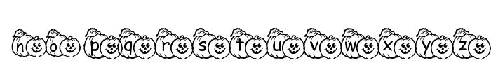 pf_pumpkin1 Font LOWERCASE