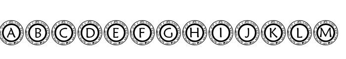 pf_scircle1 Font UPPERCASE