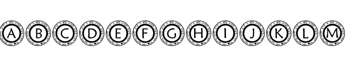 pf_scircle1 Font LOWERCASE