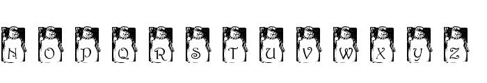 pf_snowman1 Font UPPERCASE