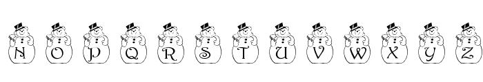 pf_snowman2 Font UPPERCASE