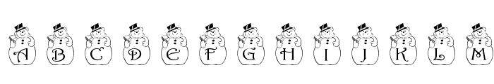 pf_snowman2 Font LOWERCASE