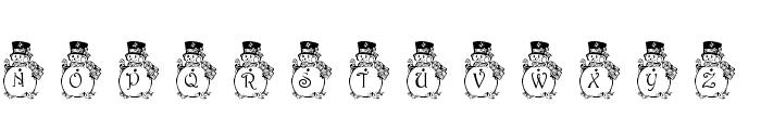 pf_snowman3 Font UPPERCASE