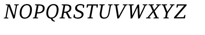 PF Adamant Italic Font UPPERCASE
