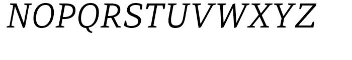 PF Adamant Light Italic Font UPPERCASE